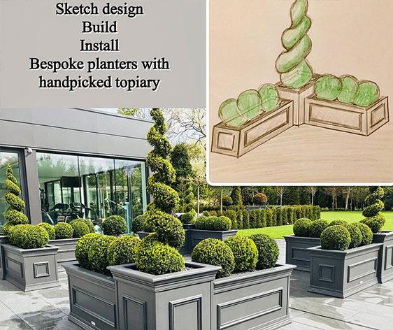bespoke planter design